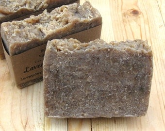 Lavender & Oatmeal - goat milk soap with lavender essential oil and ground oatmeal