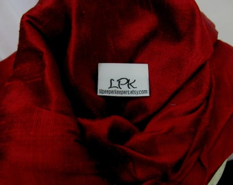 Ring Sling Silk Double Layer Dupioni Baby Carrier - Black Cherry -DVD included