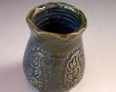 Little Pottery Fairy Vase/ Small Pottery Flower Vase/ Toothpick Holder/ Doll's House Vase