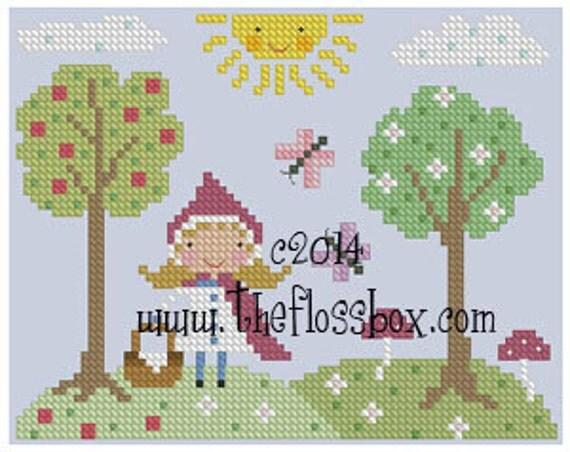 Little Red Riding Hood Cross Stitch Pattern
