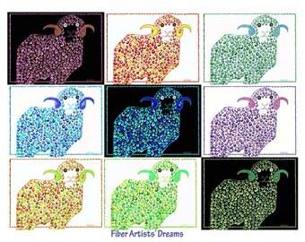 9 Rams: A fiber artist's dream (print)