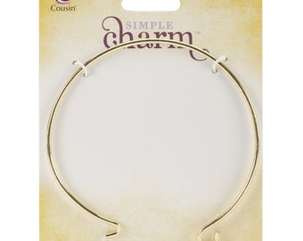 Gold Bangle with Loop
