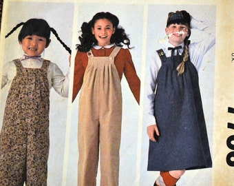 Vintage Sewing Pattern McCall's 7706 Girls'  Jumper and Jumpsuit  Size12 Breast 30 inches Uncut Complete