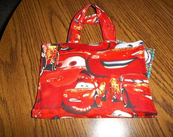 Crayon Tote Bag, Cars Lightning McQueen, Kids Craft Kit, Coloring Travel, Coloring Pages, Kids Gift, Crayons, Fabric Bag, Kids Coloring