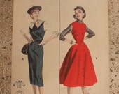 Great 1950s Butterick button front jumper #7484 Size 14 Bust 32