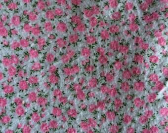 Adorable Vintage Floral Flannel - 2 3/4 Yards