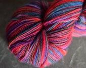 Athena superwash merino wool, cashmere and nylon fingering weight sock yarn