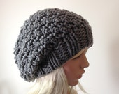 Instant Download Knitting PATTERN, Knit Hat Pattern, Crocheted Slouchy Beanie with Knitted brim, the Wolcott hat