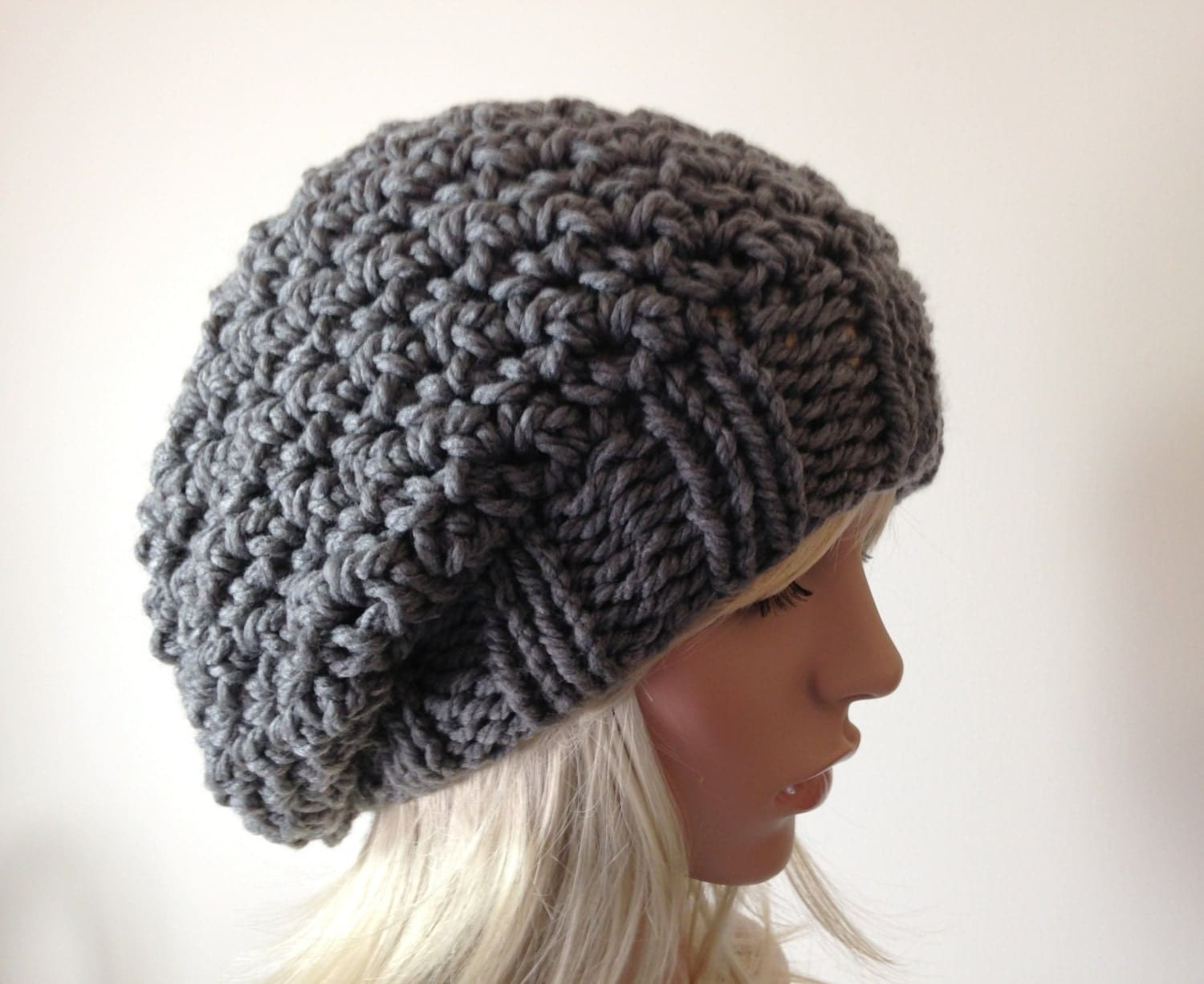Crochet Beanie Pattern J Hook : Instant Download Knitting PATTERN Knit Hat Pattern Crocheted