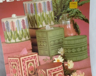 Plastic Canvas Patterns, Bathroom Tissue Sets, Tissue Box Covers, Leisure Arts, 10 Projects, Unique Covers, Home Decor, Gift Ideas, Supplies