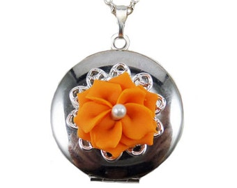 Flower Blossom Locket Necklace - Flower Jewelry
