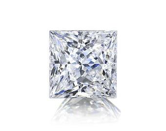 1ct Diamond E VVS1 GIA Certified Loose Diamond Princess Cut Diamond Conflict Free