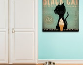 Black Cat Ice Cream Company graphic art on gallery wrapped canvas by stephen fowler