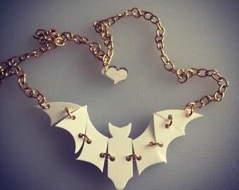 BAT in motion necklace Radiant