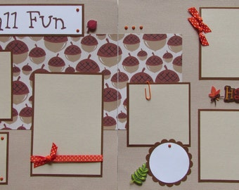 FALL FUN 12x12 Premade Scrapbook Pages