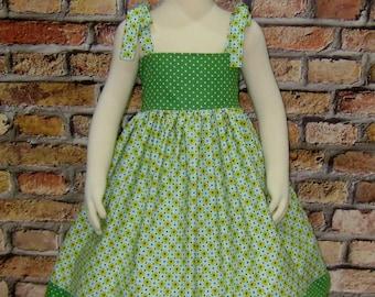 Girls Dresses, Green Girls Dress For Summer In Clothing