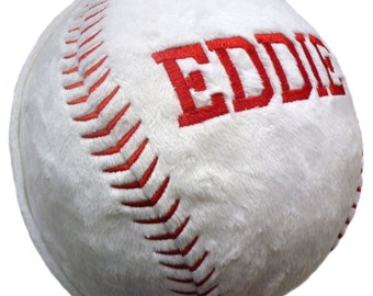 Embroidered Personalized Baseball Softball, or Football Pillow