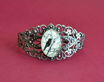 Sale 20% Off // FOR the LOVE of CROWS Bracelet - Silhouette Jewelry // Coupon Code SALE20