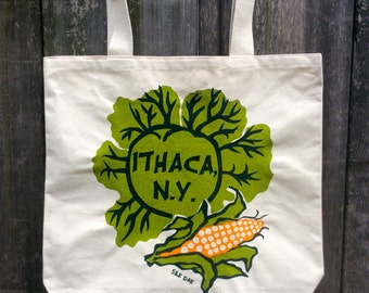 Ithaca Veggies Cotton Canvas Tote