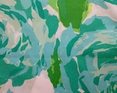 """lilly pulitzer's poolside blue first impression poplin cotton fabric square 18""""x18"""""""
