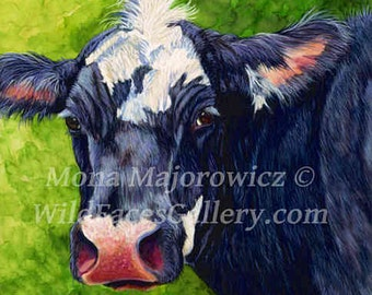 Cow Canvas Print, Cow Art, western decor, western art, farm decor, cow decor, cow gifts, country decor, ranch decor, farm art, cow print