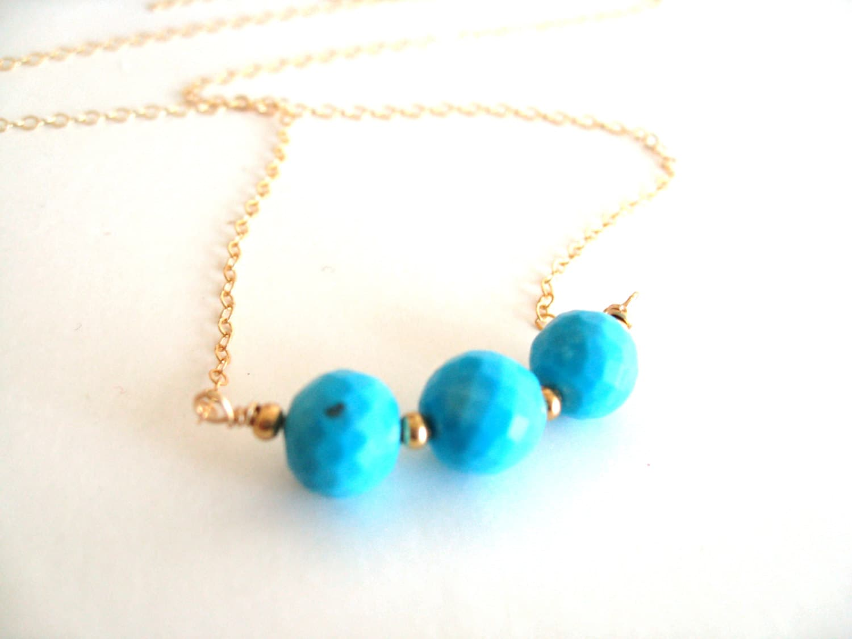 Turquoise Layering Necklace December birthstone birthday
