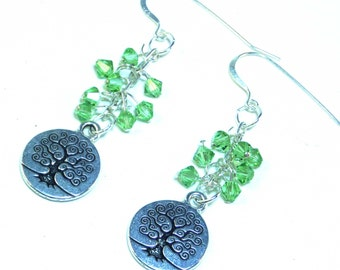 Tree of Life Earrings - Sterling Silver