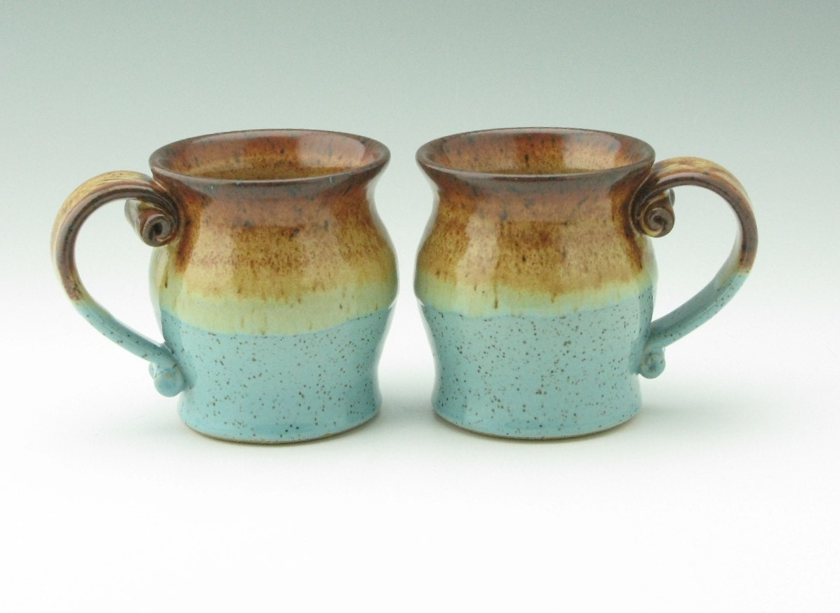 Handmade Pottery Coffee Mug Pot Belly Ceramic by ...