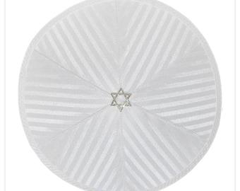 Kippah - yarmulke. Jewish wedding - Bar Mitzvah - Shabbat - Yom Kippur. David Star.