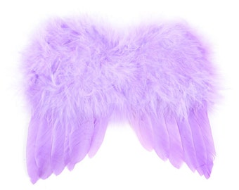 Soft Lilac Lavender Angel Wings Feather Tree Easter Christmas Tree Ornament Decoration Crafts