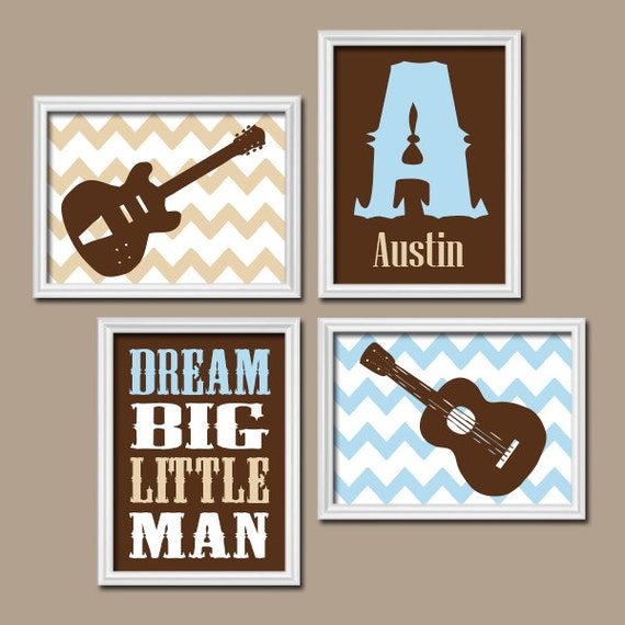 Guitar wall art baby boy nursery music nursery rock n by for Rock n roll baby crib set