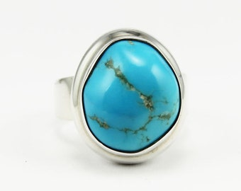 Natural Turquoise Nugget ring handmade