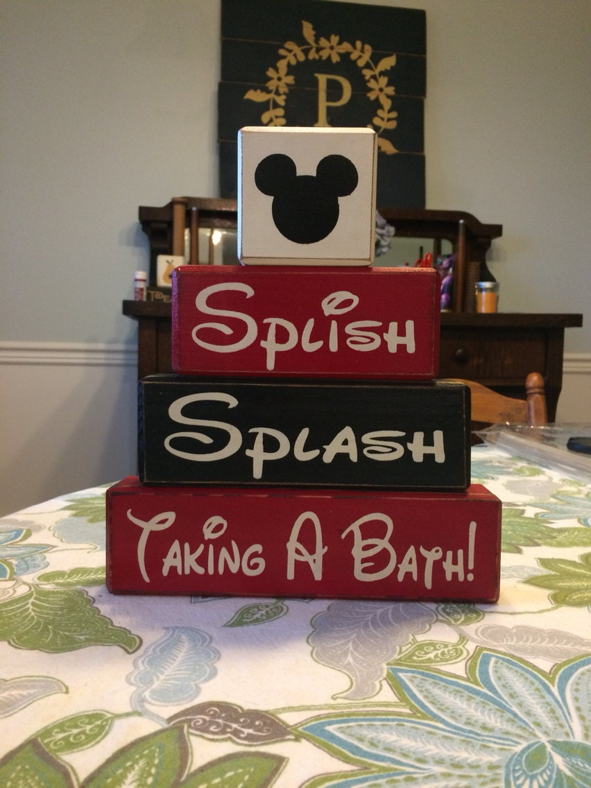 mickey mouse bathroom decor splish splash by applejackdesign