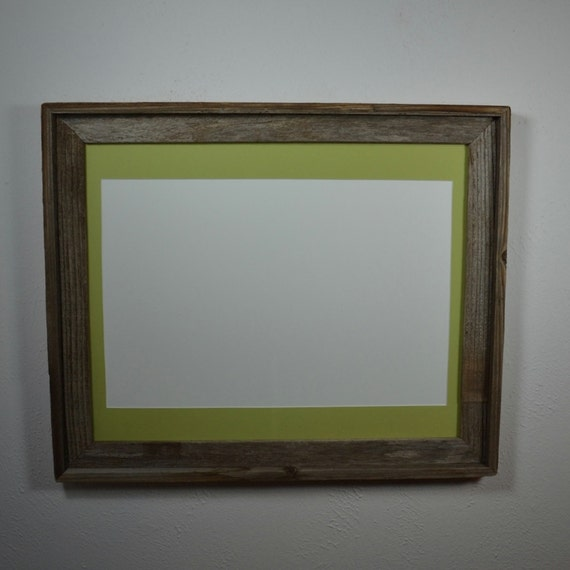 Wood Poster Frame 16x20 With Light Green Mat For A By