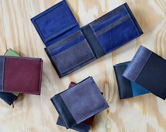 Mens Custom Leather Wallet / Leather Wallet Man / Mens Wallet / Mens Gift / Personalized Wallet - The Wesley Wallet Custom Color Option
