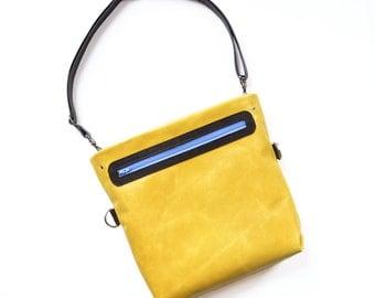 Crossbody Bag / Leather Crossbody / Shoulder Bag / Crossbody Purse /  Adjustable Strap - The Abby Satchel in Lemon Yellow