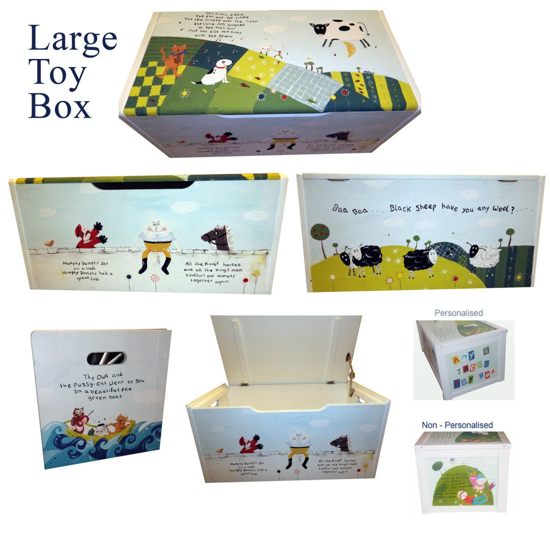 Dinosaurs Mdf Toy Box Childrens Storage Toys Games Books: Personalized Dinosaur Toy Box / Children's / Boys Storage