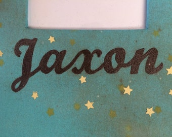 Personalized scrapbook album cover, hand painted