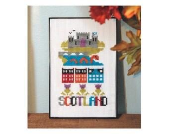 Scotland Cross Stitch Pattern Instant Download