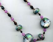 Mokume Gane Disc Beads - Handmade Polymer Clay Beads