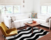 Decorative Rug, red and white rug, stripes carpet, nursery rug , modern decor, contemporary rug, blue and white carpet, living room decor