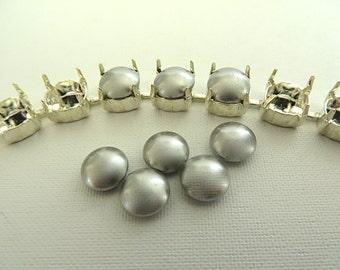 5 Light Gray Swarovski Crystal Cabochon Pearls 5817 8mm