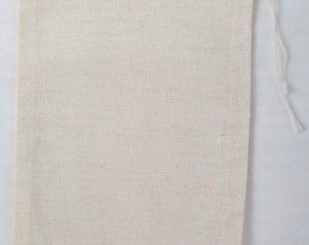 25 4x6 Cotton Muslin Drawstring Bags Bath Soap Herbs