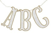 Vintage Inspired Letter Banner - Mary Had a Little Party