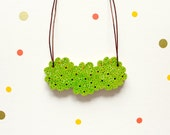 Green Grass Puff Pouf Necklace for Nature and Outdoor Lovers
