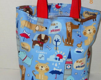 Cute Puppies Tote/Gift Bag