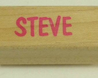 Steve Wood Mounted Rubber Stamp