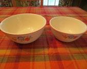 Universal Cambridge potteries Morning Glory Set of 2 Mixing Bowls