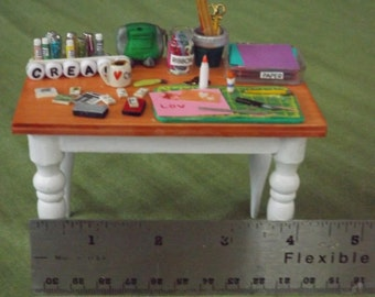 miniature scrapbooking table