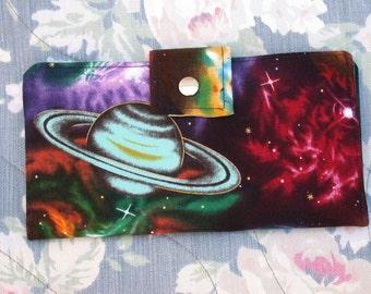 Handmade Long Wallet BiFold Clutch-Galaxy~ planets